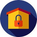 real estate, house, secure, buildings, property, Home DarkSlateBlue icon