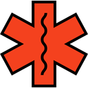 star, Info, medical, Information, Asterisk, shapes, symbol, signs OrangeRed icon