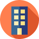 buildings, Apartment, property, Apartments, real estate, residential Coral icon