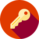 Passkey, pass, real estate, Tools And Utensils, Door Key, Key, password, Access OrangeRed icon
