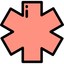 star, Info, medical, Information, Asterisk, shapes, symbol, signs LightSalmon icon