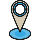 interface, pin, placeholder, signs, map pointer, Map Location, Map Point, Maps And Location Black icon