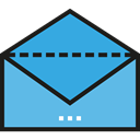 Email, envelope, Message, mail, Note, Communications CornflowerBlue icon