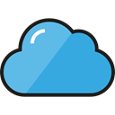 Cloud, weather, Cloudy, sky, Cloud computing DodgerBlue icon