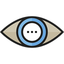 view, medical, interface, Eye, visible, ui, Visibility Black icon