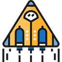 Rocket Ship, Rocket Launch, Spacecrafts, Rocket, transportation, transport, Space Ship, Business Black icon