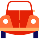 Car, transportation, transport, vehicle, beetle, Automobile Red icon