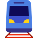 Public transport, transportation, transport, vehicle, train, Automobile RoyalBlue icon