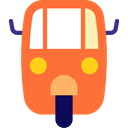 transport, vehicle, Automobile, Auto Ricksaw, transportation Tomato icon