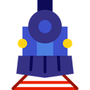 transportation, transport, vehicle, train, Locomotive, Automobile, Public transport DarkSlateBlue icon