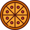 food, Pizza, Restaurant, Fast food, junk food, Pizzas, Italian Food, Restaurants, Food And Restaurant Goldenrod icon
