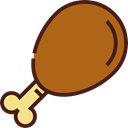 food, turkey, chicken, chicken leg, Turkey Leg, Roast Chicken, Food And Restaurant Sienna icon