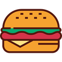 food, Fast food, junk food, sandwich, Burger, hamburger, Food And Restaurant Goldenrod icon