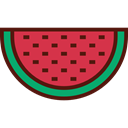Fruit, organic, watermelon, diet, vegetarian, vegan, Healthy Food, Food And Restaurant, food Crimson icon