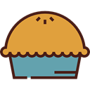 pie, food, Dessert, sweet, Bakery, Food And Restaurant Goldenrod icon