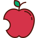 vegetarian, vegan, Healthy Food, Food And Restaurant, Apple, food, Fruit, organic, diet Crimson icon