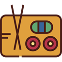 sushi, Japanese Food, Food And Restaurant, food, raw, fish, maki Goldenrod icon