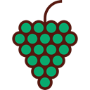 food, Fruit, organic, diet, Food And Restaurant, Grapes, vegetarian, vegan, Healthy Food Black icon