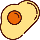 food, Candy, fried egg, Gummy, Food And Restaurant, egg, sugar, sweet, fried Khaki icon