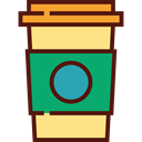 Coffee, food, coffee cup, hot drink, Coffee Shop, Take Away, Paper Cup, Food And Restaurant Khaki icon