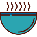 food, soup, hot drink, Healthy Food, Bowls, Food And Restaurant LightSeaGreen icon