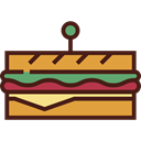 food, Lunch, meal, snack, Bread, sandwich, Food And Restaurant Maroon icon