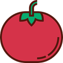 vegan, Healthy Food, Food And Restaurant, food, Fruit, organic, diet, Tomato, vegetarian Crimson icon