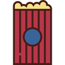 Fast food, Salty, Food And Restaurant, cinema, food, popcorn, snack Brown icon