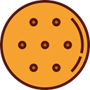 food, cookie, Dessert, cookies, sweet, Bakery, Food And Restaurant Goldenrod icon