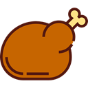 food, turkey, chicken, chicken leg, Turkey Leg, Roast Chicken, Food And Restaurant Chocolate icon