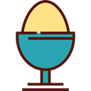 Boiled Egg, Food And Restaurant, food, organic, protein, fried egg Black icon