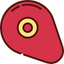 Proteins, Food And Restaurant, food, meat, steak, Barbecue, grilled Crimson icon