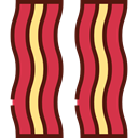 food, Strips, Bacon, Bacons, Bacon Strips, Food And Restaurant Crimson icon