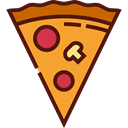 food, Pizza, Fast food, junk food, Pizzas, Italian Food, Unhealthy, Food And Restaurant Black icon