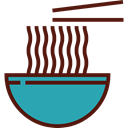 Chinese Food, Food And Restaurant, food, Bowl, chinese, sticks, noodles Maroon icon