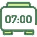 Clock, time, timer, education, digital, alarm clock, Tools And Utensils, Time And Date DimGray icon