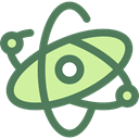 science, Atomic, Atom, education, nuclear, Electron, physics DimGray icon