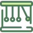 Energy, education, physics, Momentum, Newtons Cradle DimGray icon
