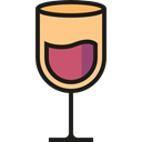 wine, cup, drink, Food And Restaurant, food, glass, drinking, Wine Glass Black icon