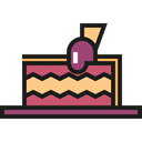 cake, food, Dessert, sweet, Cherry, Bakery, Food And Restaurant Black icon