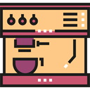 Coffee Machine, Coffee Shop, Coffee Pot, Food And Restaurant, Coffee, food, hot drink Khaki icon
