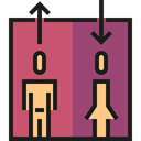 Elevator, lift, Doors, Furniture And Household IndianRed icon