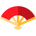 Fan Uchiwa Traditional Japanese Oriental Icon