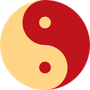 Yin Yang, Taoism, Cultures, religion, Balance, philosophy, signs Firebrick icon
