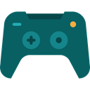 electronic, virtual reality, game controller, Multimedia, digital, technology Teal icon
