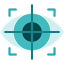 Multimedia, digital, technology, electronic, virtual reality, Eye Tracking Black icon