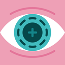 Multimedia, digital, technology, electronic, virtual reality, Bionic Contact Lens LightPink icon