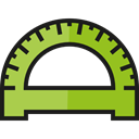 Rule, education, Protractor, Tools And Utensils, School Material, Measuring Utensils YellowGreen icon