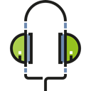 sound, Audio, Headphones, technology, electronics, earphones Black icon