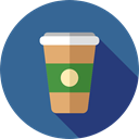 Coffee, Take Away, Paper Cup, Food And Restaurant, food, coffee cup, hot drink, Coffee Shop SteelBlue icon